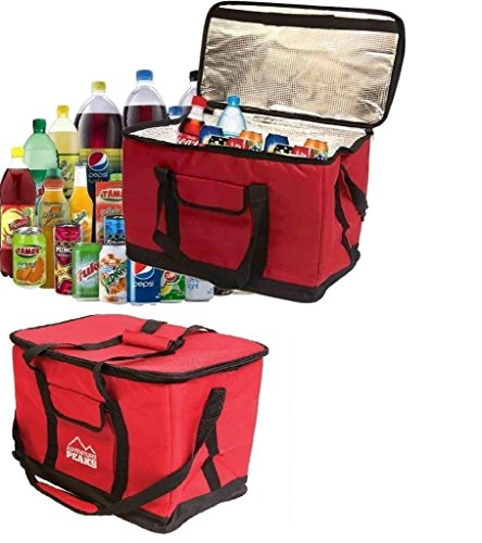 Saving World X LARGE 26 LITRE 50 CAN INSULATED COOLER COOL BAG COLLAPSIBLE PICNIC CAMPING RED
