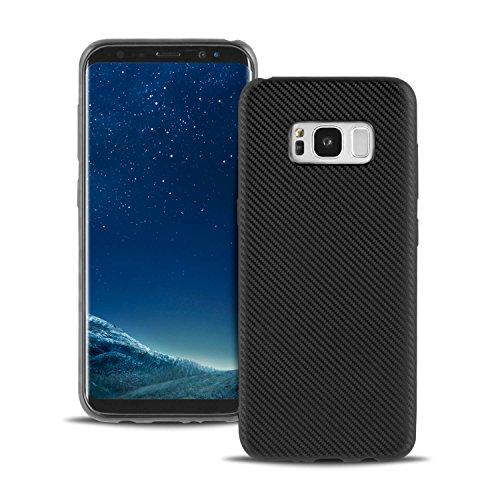 Handy Case für Samsung Galaxy S8 Schwarz | Mat TPU Bumper
