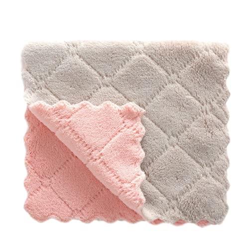 Weall Toallas de cocina súper absorbentes paños de limpieza de microfibra suave antiadherente plato de aceite trapos para cocina hogar plato toalla