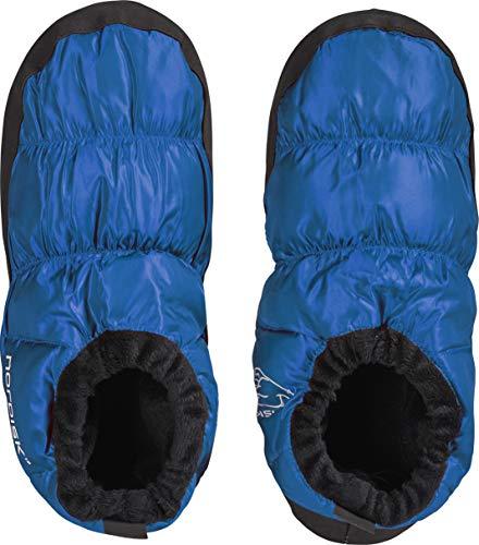 Nordisk Scarpe in piuma d'oca Mos–ciabatte da casa, pantofole, Uomo Donna, 109060, blau, L (43
