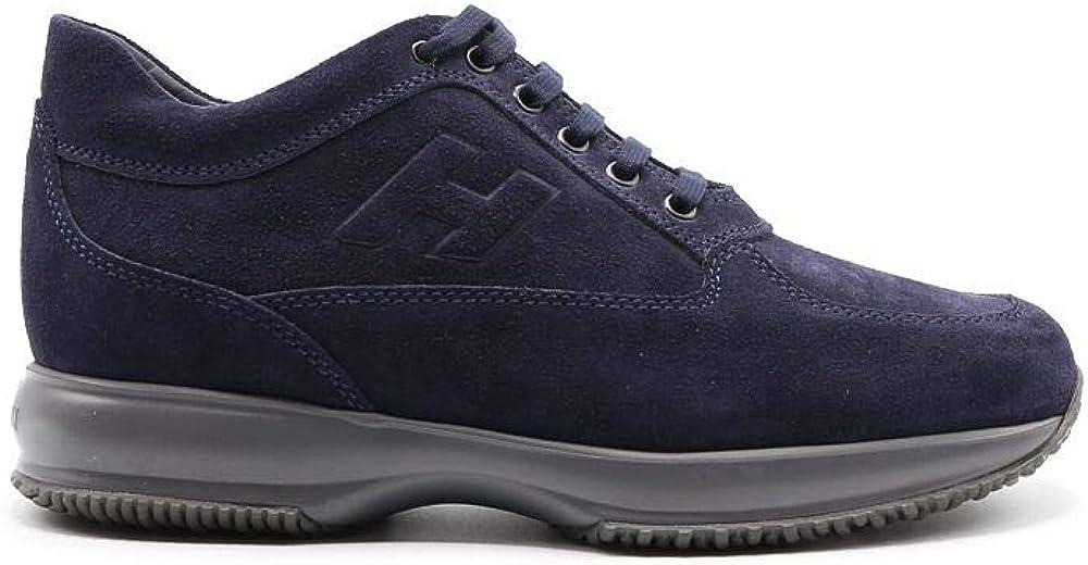 Hogan luxury fashion,sneakers,scarpe sportive per uomo,in camoscio blu. HXM00N09042HG0U801