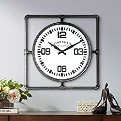 River Parks Studio English Electric 24 3/4 Wide Square Metal Wall Clock