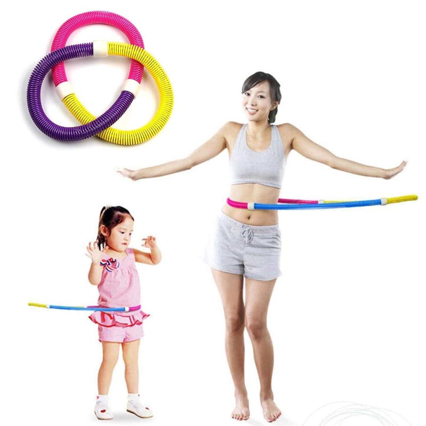 変換するファーム六フラフープ 春の体重増加スポーツ大人の子供のスポーツフィットネス減量に適した携帯用環境保護ポリ塩化ビニール