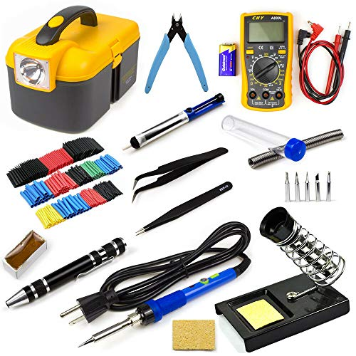 For Sale! 60W Electric Temperature Compatible With Welding Soldering Iron Tool Kit Set Digital Multi...