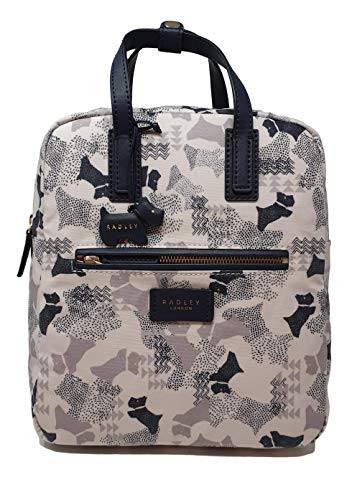 Radley Data Dog Medium Zip top Backpack - Chalk