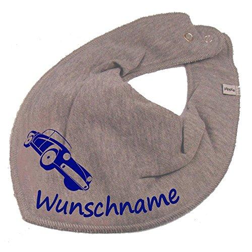 Elefantasie Elefantasie HALSTUCH Auto mit Namen oder Text personalisiert grau für Baby oder Kind