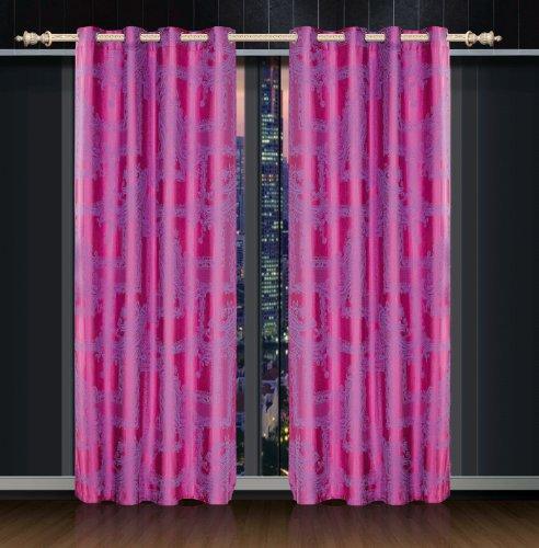 Dolce Mela DMC461 Jacquard-Damast-Vorhang mit Ösen, Cliodna