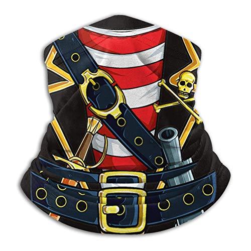 AEMAPE Disfraz de Pirata bucanero Divertido Halloween Microfibra Calentador de Cuello a Prueba de Viento, fro, mscara Facial mscara de esqu Polaina de Cuello Bufanda