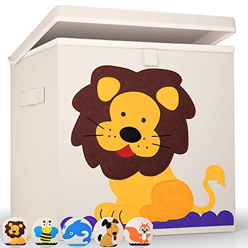 Premium Aufbewahrungsboxen von BEARTOP | passgenau für Regale wie Kallax, usw. | stabiler Deckel & verstärkte Wände zum Stapeln | verschiedene Designs | ZUFRIEDENHEITSGARANTIE (3 Jahre)*