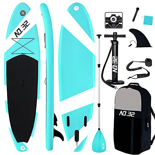NO. 32 10ft / 3m Inflatable Stand Up Paddle Board   Inflatable SUP Board Beginner's Surfboard Kit...