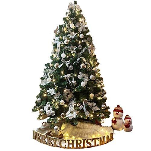 SHBV Árbol de Navidad con decoración Realista encriptado Árbol de Navidad con...