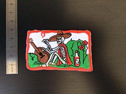 Opstrijkplaatjes Aufnaher Toppa? Mexicaanse Skeleton gitaar