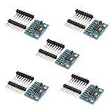 Ximimark 5Pcs GY-521 MPU-6050 Module 3 Axis Accelerometer 6 DOF Gyroscope Sensor Module 16 Bit AD Converter Data Output IIC 3-5v For Arduino