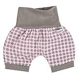 "Lilakind"" Kurze Kinder-Hose Baby Shorts Buchse Sommerhose Mädchen Punkte Rosa Gr. 74/80- Made in Germany"