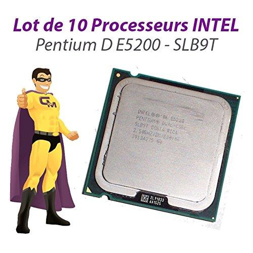Set x10Prozessoren CPU Intel Pentium Dual Core E52002,5GHz 800MHz LGA775slb9t