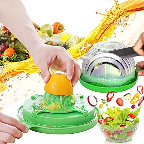 Salad Cutter Bowl,Salad Chopper Bowl,Fruit Vegetable Cut Set,Upgraded Juice Making and Salad Make, Fresh Salad Slicer,Approved for Kitchen
