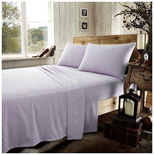 Gaveno Cavailia - Lenzuolo con angoli elasticizzati in flanella 100% cotone spazzolato, tinta unita, colore: viola