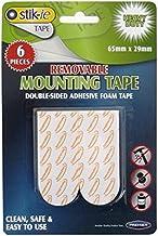 Stik-ie Dubbelzijdige Verwijderbare Schuim Mouting Tape, 65mm x 29mm, 6 Stuks