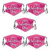 5PC Valentín Adultos Bandanas Respirable Polaina de cuello Elástico Multifuncional Wicking Pañuelo Estampado, Reutilizable, 𝐌𝐚𝐬𝐜𝐚𝐫𝐢𝐥𝐥𝐚𝐬 facial de tela de algodón reutilizable,Unisexo