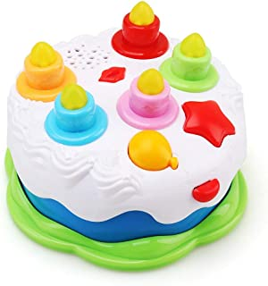 Amy & Benton Kids Birthday Cake Toy for Baby & Toddlers with Counting Candles & Music, Gift Toys for 1 2 3 4 5 Years Old Boys Girls
