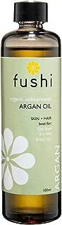 Fushi Argan Moroccan Organic Oil 100ml Extra Virgin, Biodynamic Harvested Cold Pressed