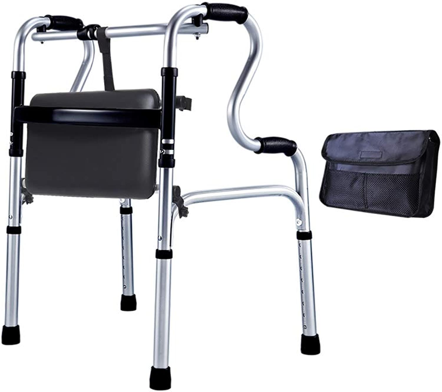 Walker, Aluminum Alloy Old Man Kneeling Chair Stool, Fourlegged Walking Armrest Fracture Aid, Bearing Weight 150kg Assisted walking (color   A)