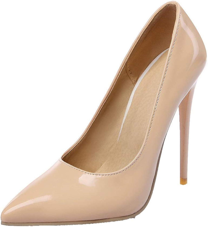 AllhqFashion Women's High-Heels Pointed Closed Toe Pumps-shoes, FBUDD011302