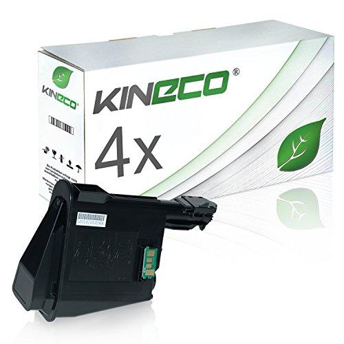 4 Toner kompatibel zu TK-1115 für Kyocera Ecosys FS-1041, FS-1220MFP, FS-1320MFP - 1T02M50NL0 - Schwarz je 1.600 Seiten