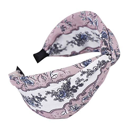 Committede Stirnband Damen elastische Haarband Kopfband Weich Turban Stirnband für Alltag Yoga Sport Fitness Gestrickte Verdrehte Weiche Turban-Kopf-Verpackungs