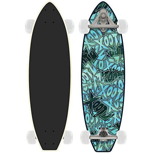 Xootz Kids 'Marmor Ahorn Deck komplett Anfänger Carve Skateboard, Blau, 27,75X 20,3cm