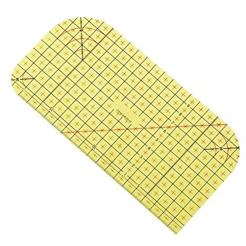 rongweiwang Caliente Planchado Regla de medición Remiendo de Costura Que Prensa Clip Regla de Medida de Vapor de Vapor de Bricolaje Planchado Regla, 10x20cm
