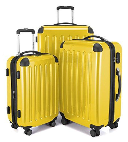 Hauptstadtkoffer Alex, Maleta a Mano Rígida, Amarillo (Yellow), Set de 3