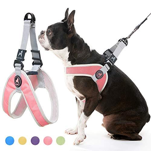 GOOBY Simple Step-In Harness III Hundegeschirr, Kratzfest, atmungsaktiv, Netzstoff, Pink, Größe S