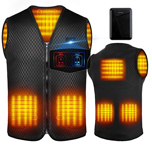 Heated Vest for Men Women,Heated Vest with Battery Pack for Outdoor Activities Hiking Hunting Motorcycle Camping… (L)