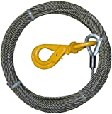 BA Products 4-38PS75LH Winch Cable, 3/8' x 75' Fiber Core with Self Locking Swivel Hook