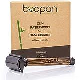 boopan® Premium RASIERHOBEL DAMEN mit Griff aus Bambus nachhaltig inkl.