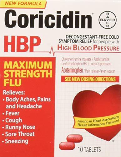 Coricidin Hbp Maximum Strength Flu, 10 Count