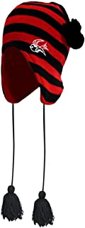 Red & Black Striped Sparrow Trapper Hat from Sourpuss Clothing,One Size Fits Most