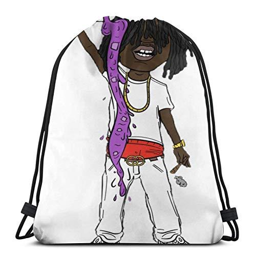 Chief Keef Comic Version Drawstring Bag Sports Fitness Bag Travel Bag Gift Bag