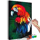 murando Pintura por Números Cuadros de Colorear por Números Kit para Pintar en Lienzo con Marco DIY Bricolaje Adultos Niños Decoracion de Pared Regalos - Loro 40x60 cm - DIY - n-A-0189-d-a