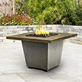 American Fyre Designs Cosmopolitan 36-inch French Barrel Oak Propane Gas Square Fire Table - Black Lava