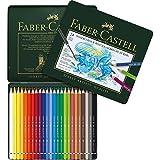 Faber-Castell 117524 - Estuche de metal con 24 ecolápices acuarelables, multicolor