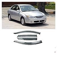 サイドバイザー ためにKIA CERATO2005-2012の場合プラスチック製のウィンドウバイザーベントシェードサンレインデフレクターガードカースタイリング (色 : 晴れ)