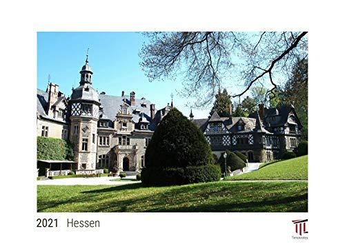 Hessen 2021 - White Edition - Timokrates Kalender, Wandkalender, Bildkalender - DIN A3 (42 x 30 cm)