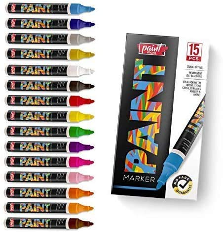 Paint Mark Quick-Dry Paint Pens - Write On Anything! Rock,...