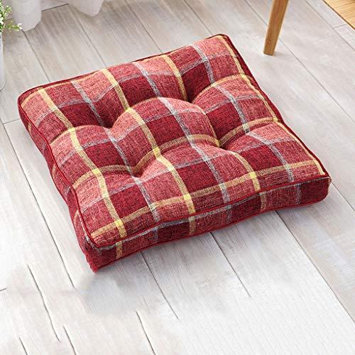 HYXXQQ Japanse katoen vloerbedekking/dik stoelkussen/zitkussen, 10 cm dik, tuin | keuken | kantoor | woonkamer, 45x45 cm (18x18 inch)