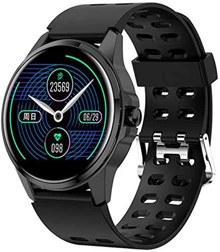 NMQQ Damen intelligente Uhr, Damen Fitness Armband Smart Uhren- IP67 wasserdicht Herzfrequenzmonitor für die Android IOS Motion-Tracker,schwarz