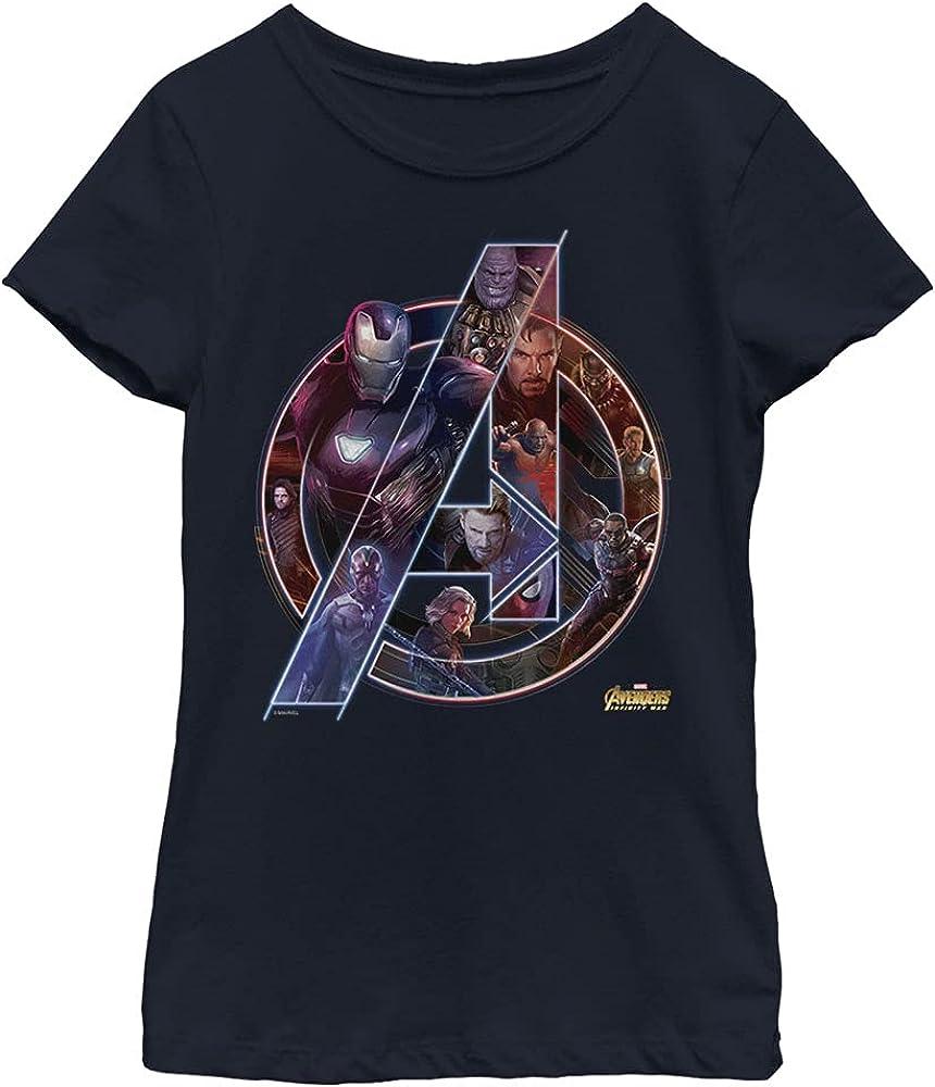 Marvel Universe Team Neon Girl's Solid Crew Tee