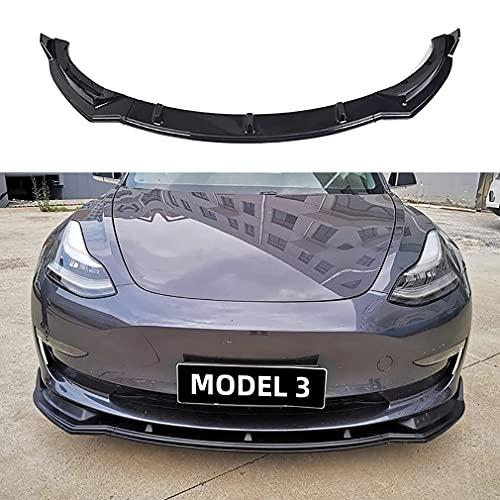 FWC Para Tesla Model 3 Cuchilla Delantera Cuchilla Delantera De Tres Partes Pequeño Envolvente Borde Delantero Especial Tesla Model 3 Accesorio Modificado