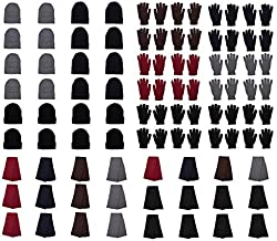 72-Pack Gloves, Scarves, and Beanies - Wholesale Unisex Winter Accessories - Bulk 24 Glove Pairs, 24 Scarves, 24 Beanies